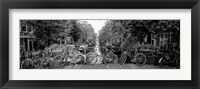 Framed Bikes in Amsterdam, Netherlands (black & white)