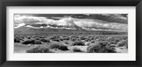 Framed Death Valley landscape, Panamint Range, Death Valley National Park, Inyo County, California