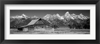 Framed Old barn on a landscape, Grand Teton National Park, Wyoming