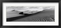 Framed Sand dunes in a desert, Great Sand Dunes National Park, Colorado