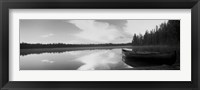 Framed Leigh Lake, Grand Teton Park, Wyoming