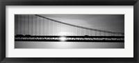 Framed Sunrise Bay Bridge San Francisco BW