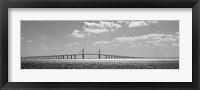 Framed Bridge across a bay, Sunshine Skyway Bridge, Tampa Bay, Florida
