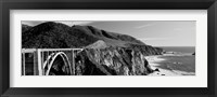 Framed Bixby Creek Bridge, Big Sur, California