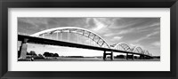 Framed Low angle view of a bridge, Centennial Bridge, Davenport, Iowa