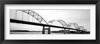 Framed Iowa, Davenport, Centennial Bridge over Mississippi River
