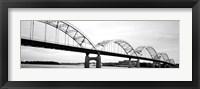 Framed Iowa, Davenport, Centennial Bridge over Mississippi River
