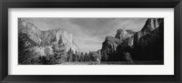 Framed Mountains in Yosemite National Park, California
