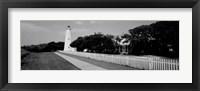 Framed Ocracoke Lighthouse, Ocracoke Island, North Carolina
