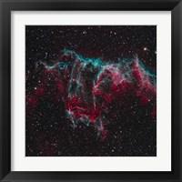 Framed NGC 6995, the Bat Nebula