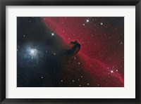 Framed Horsehead Nebula in the Constellation Orion