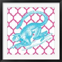 Framed Bright Menagerie Monkey
