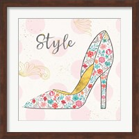 Framed Fashion Blooms II