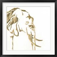 Framed Gilded Elephant