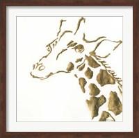 Framed Gilded Giraffe