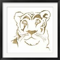 Framed Gilded Lioness
