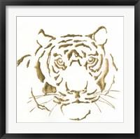 Framed Gilded Tiger