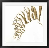 Gilded Zebra Framed Print