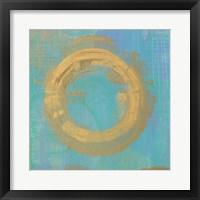 Golden Circles II Framed Print