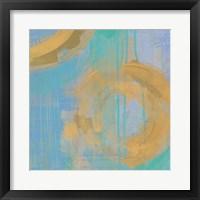 Golden Circles III Framed Print