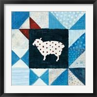 Framed Modern Americana Farm Quilt VI