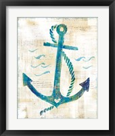 On the Waves IV Framed Print