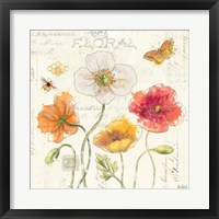 Painted Poppies III Framed Print