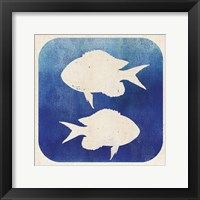 Watermark Fish Framed Print