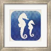 Framed Watermark Seahorse