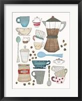 Coffee Chart I Framed Print