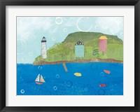 Coastal Harbor I Framed Print