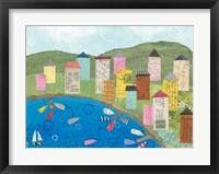 Coastal Harbor III Framed Print