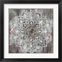 Framed Mandala in Neutral II