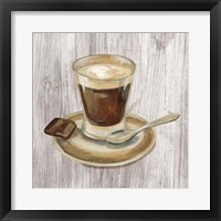 Coffee Time III on Wood Framed Print