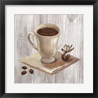 Coffee Time IV on Wood Framed Print
