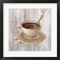 Coffee Time VI on Wood Framed Print