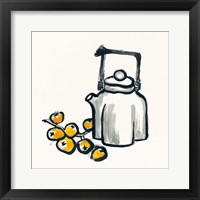 Tea and Loquats Framed Print