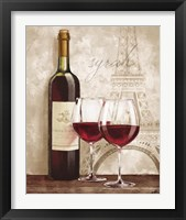 Framed Wine in Paris IV