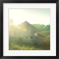 Farm Morning II Square Framed Print