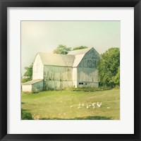 Farm Morning III Square Framed Print
