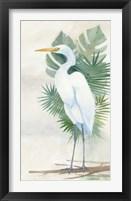Framed Standing Egret II