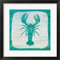 Framed Ahoy II Blue Green