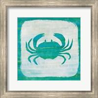 Framed Ahoy V Blue Green