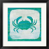 Framed Ahoy V Blue Green
