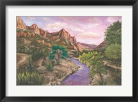 Framed Zion at Sunset