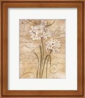 Framed Calligraphy Narcissus
