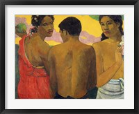 Framed Three Tahitians