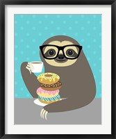 Framed Snacking Sloth