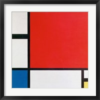 Framed Composition II in Red, Blue, and Yellow