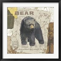 Framed Bear Sleep (square)